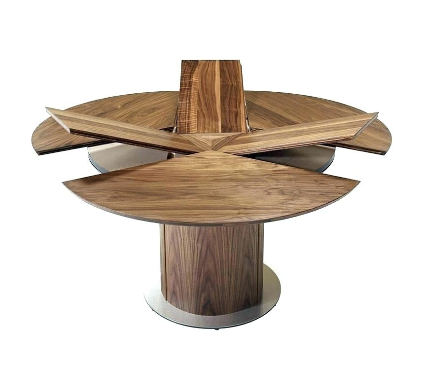 Round Extended Dining Table Awesome Round Extendable Dining Table Inside Round Extendable Dining Tables (Image 20 of 25)