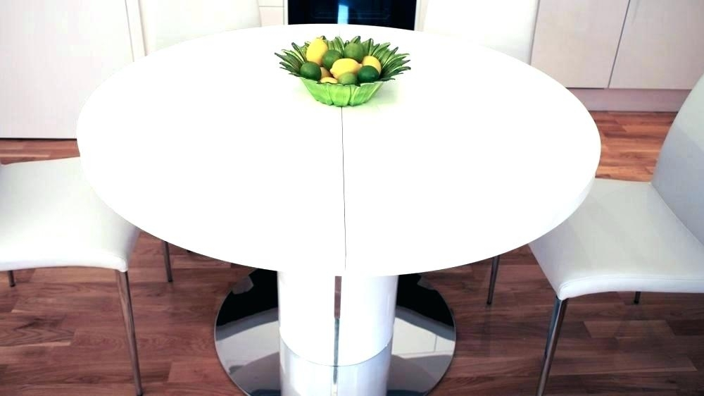 Round Extending Dining Table Acacia Hardwood Solid Round Extendable In Round White Extendable Dining Tables (View 15 of 25)
