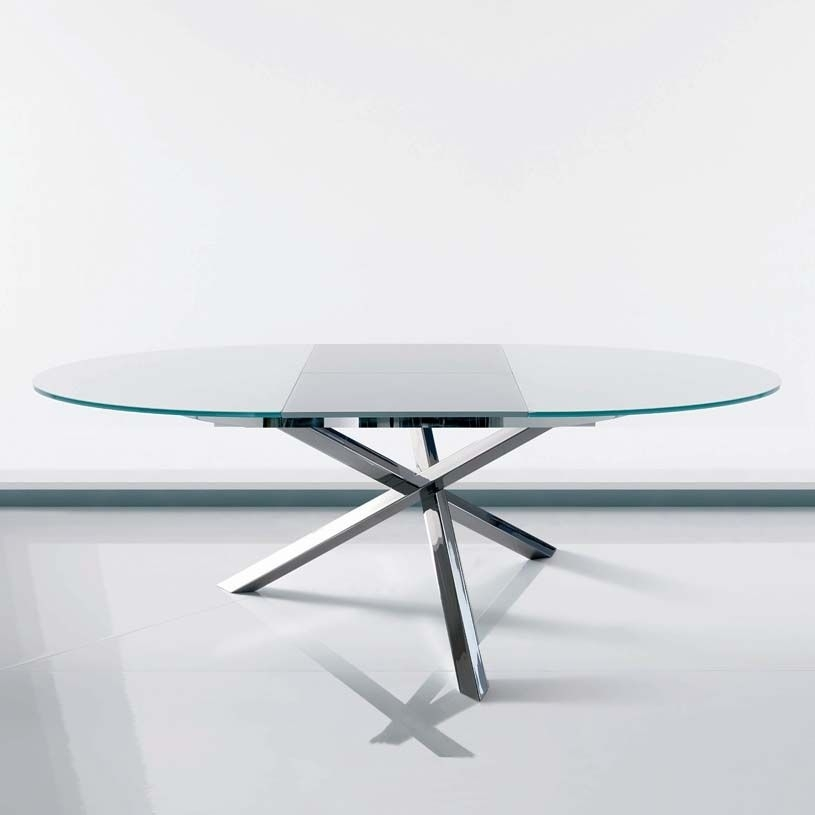 Round Extending Dining Table Glass | Furniture | Pinterest | Modern In Glass Extending Dining Tables (View 24 of 25)