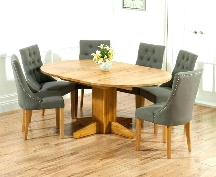 Round Extending Dining Table Modern Oak Extending Dining Table Pertaining To Round Extending Dining Tables Sets (Image 18 of 25)