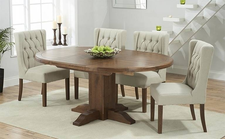 Round Extending Dining Table Sets Best Of Dark Wood Dining Table Intended For Dark Wood Extending Dining Tables (Image 19 of 25)
