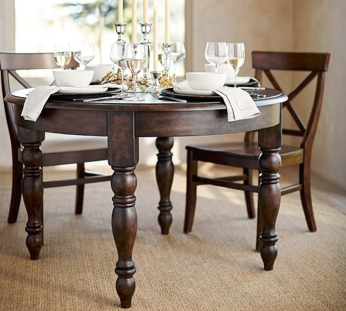 Round Extending Kitchen Table – Klipon Kitchen Regarding Artisanal Dining Tables (Image 20 of 25)