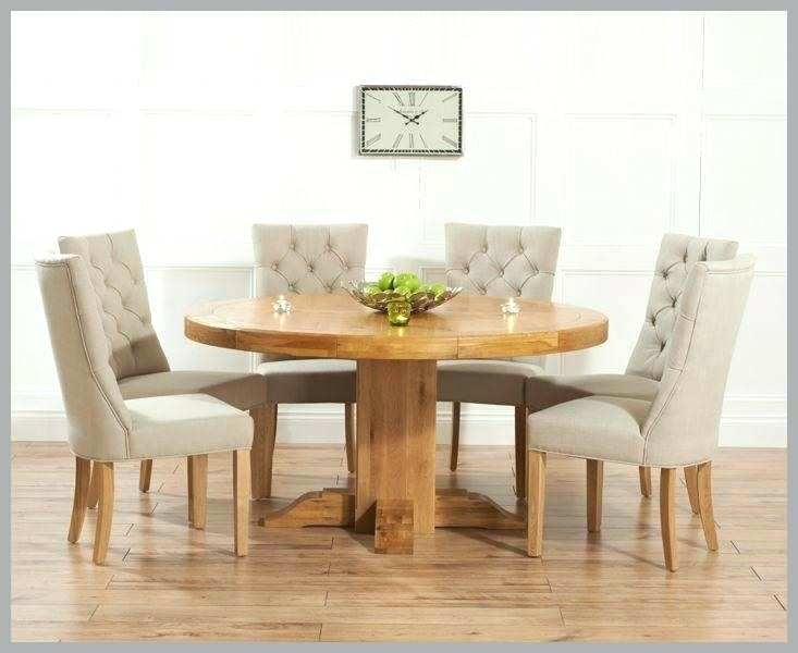 Round Extending Oak Dining Table And Chairs – Kuchniauani Inside Round Extending Oak Dining Tables And Chairs (Image 20 of 25)