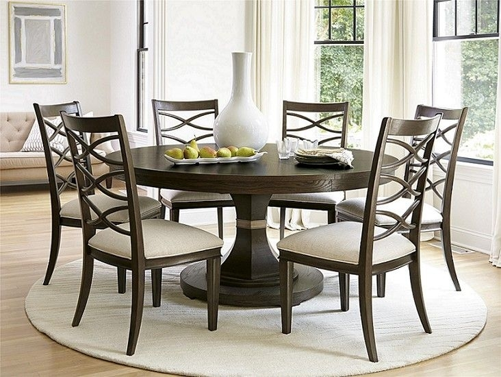 Round Formal Dining Room Sets | Home Decor | Pinterest | Dining Intended For Norwood 7 Piece Rectangular Extension Dining Sets With Bench & Uph Side Chairs (Image 20 of 25)