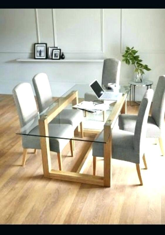 Round Glass And Oak Dining Table – Tinvietkieu Inside Oak And Glass Dining Tables And Chairs (View 9 of 25)
