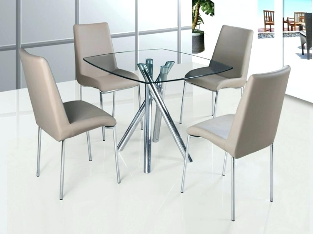 Round Glass Din Clear Glass Dining Table And 4 Chairs For Small For Clear Glass Dining Tables And Chairs (Image 24 of 25)
