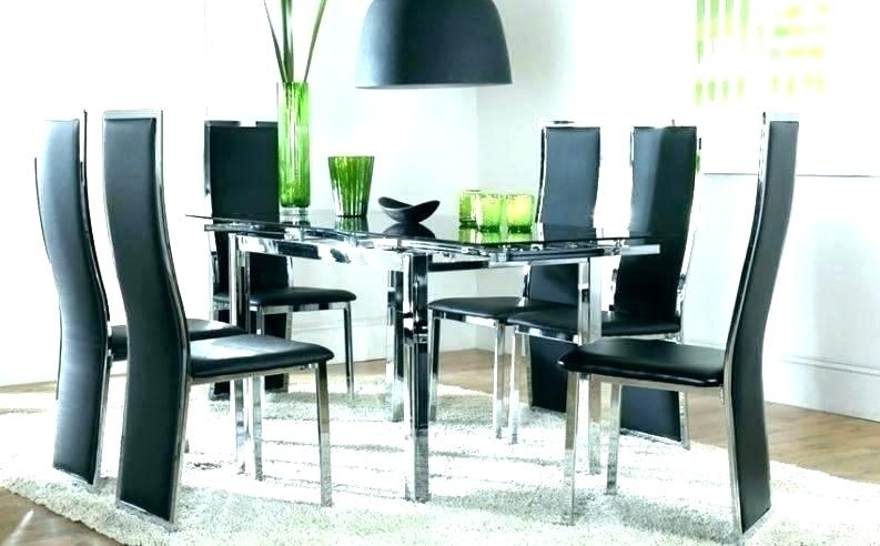 Round Glass Dining Table For 6 – Carpentry Solutions Intended For Glass Dining Tables And 6 Chairs (Image 24 of 25)