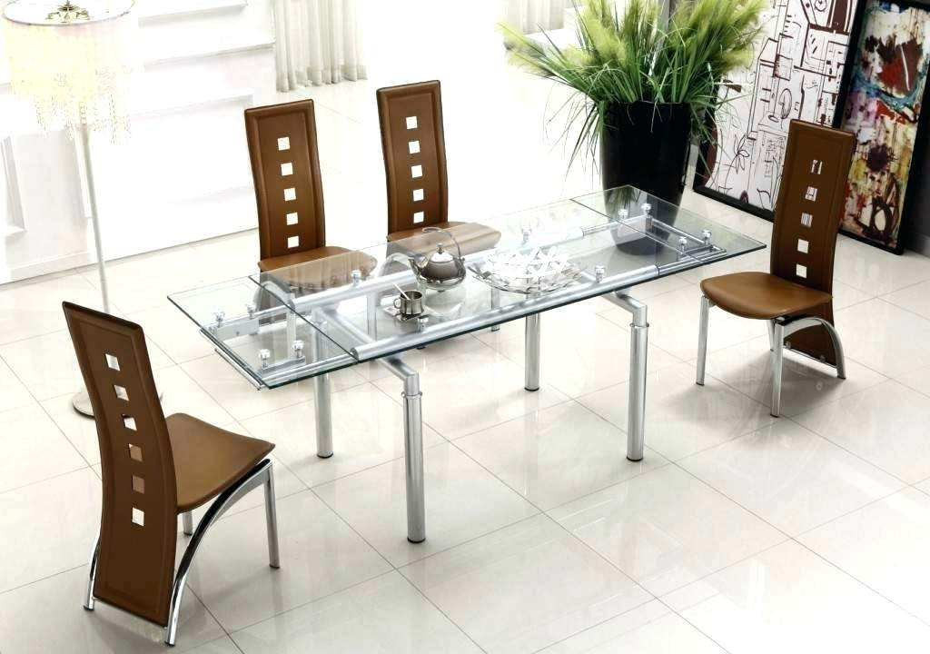 Round Glass Dining Table Set Modern – Modern Computer Desk Within Contemporary Dining Sets (Image 24 of 25)