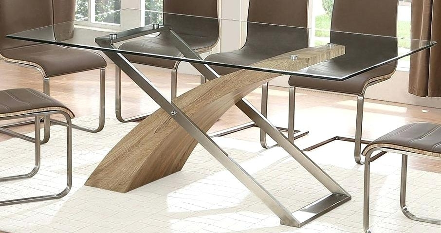 Round Glass Dining Table Set Uk – Modern Computer Desk Regarding Glass And Oak Dining Tables And Chairs (Image 18 of 25)