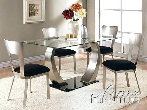 Round Glass Dining Table Set Uk – Modern Computer Desk Within Glass Dining Tables And Chairs (Image 24 of 25)