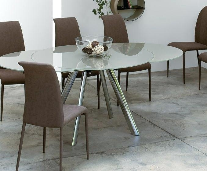 Round Glass Extendable Dining Table Black Glass Dining Table Regarding Glass Folding Dining Tables (View 22 of 25)