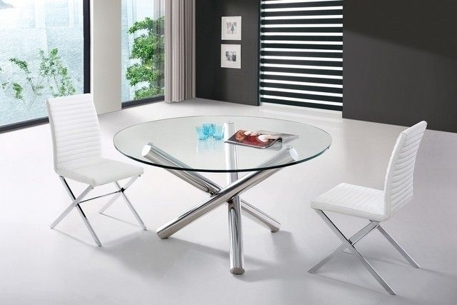 Round Glass Top Dining Table Wood Base – Foter | Dining Tables Within Helms Round Dining Tables (View 6 of 25)