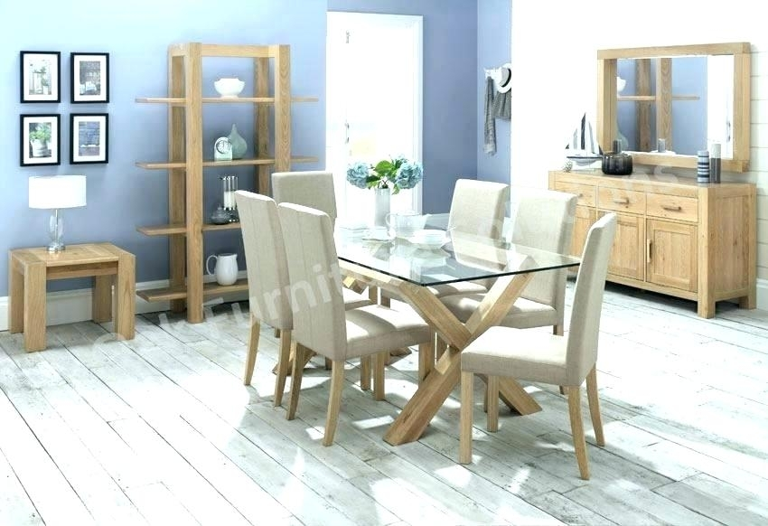 Round Kitchen Table For 6 – Latejica Throughout Oak Glass Top Dining Tables (Image 21 of 25)