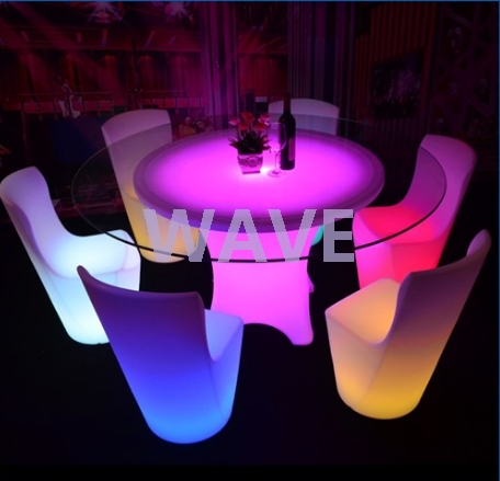 Round Led Dining Table Bar Setup – Buy Led Light Restaurant Table Intended For Led Dining Tables Lights (Image 24 of 25)