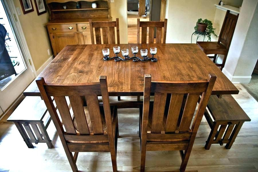 Round Mission Style Dining Table Fresh Design With Le For Craftsman Round Dining Tables (Image 20 of 25)