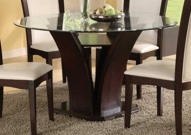 Round Oak And Glass Dining Table 19 Elegant Glass Top Round Dining Within Oak And Glass Dining Tables Sets (Image 20 of 25)