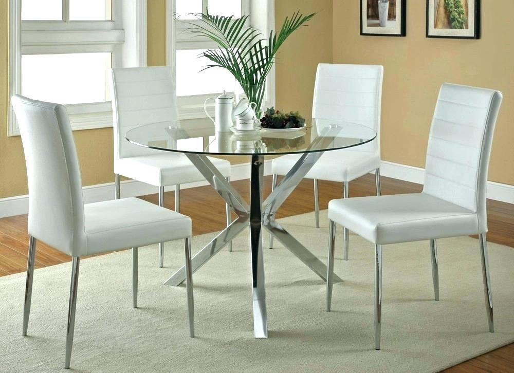 Round Oak And Glass Dining Table Dining Tables White Glass Dining Inside Oak And Glass Dining Tables Sets (Image 21 of 25)
