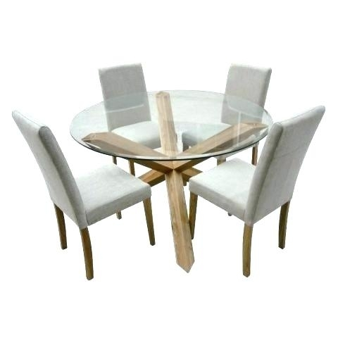 Round Oak And Glass Dining Table Dining Tables White Glass Dining With Round Glass And Oak Dining Tables (Image 19 of 25)