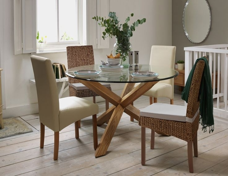 Round Oak And Glass Dining Table The 69 Best Argos At Home Images On Inside Glass Dining Tables With Oak Legs (View 14 of 25)