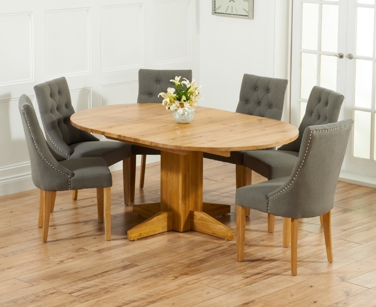 Round Oak Dining Table For 6 Dining Room Table Round Table 6 Awesome Pertaining To Round Extending Oak Dining Tables And Chairs (View 9 of 25)