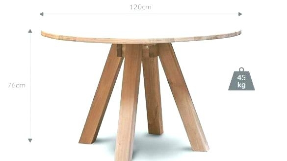 Round Oak Dining Table – Wandverkleidung Intended For Circular Oak Dining Tables (Image 15 of 25)