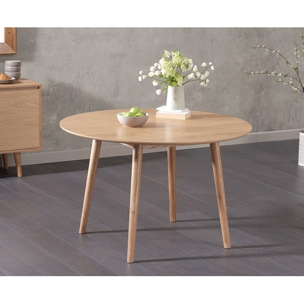 Round Oak Table | Wayfair.co (Image 17 of 25)