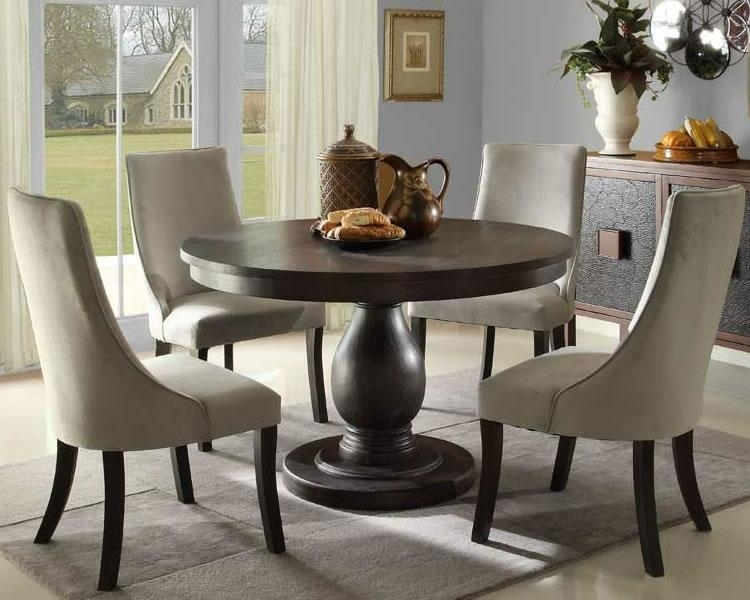 Round Pedestal Dining Table – Ideas, Inspiration - Rilane for Circle Dining Tables