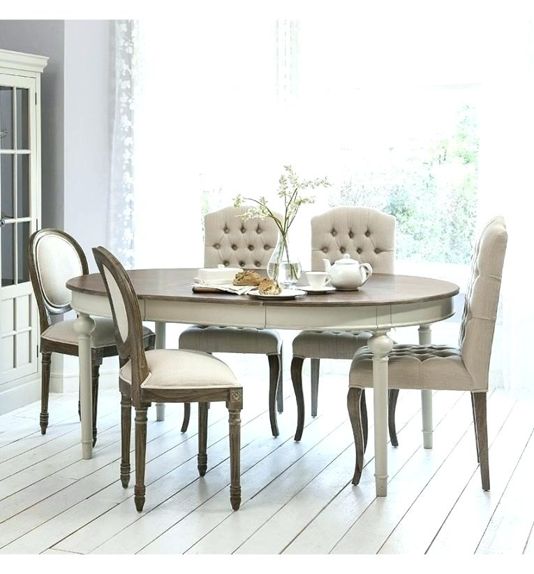 Round Shabby Chic Dining Table Country Chic Dining Table Rustic Throughout Shabby Chic Extendable Dining Tables (Image 11 of 25)