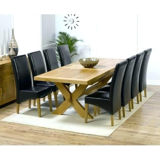 Round Table 8 Chairs Oak Dining Table And 8 Chairs Oak Extending Throughout Oak Extending Dining Tables And 8 Chairs (View 21 of 25)
