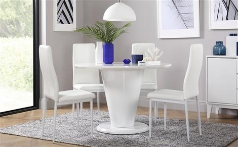 Round Table & Chairs – Round Dining Sets | Furniture Choice Intended For Leon 7 Piece Dining Sets (View 22 of 25)