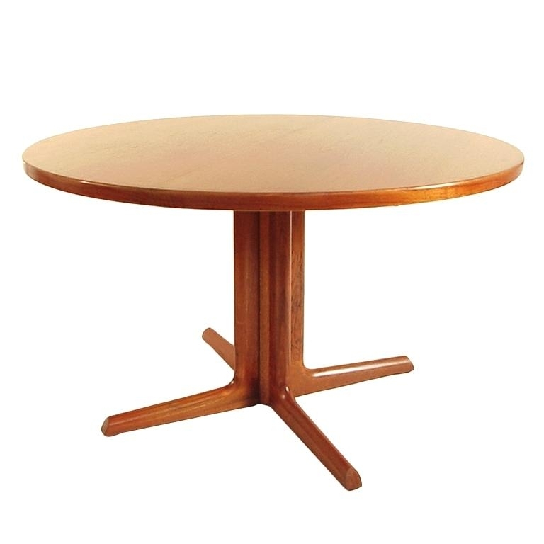 Round Teak Dining Table Teak Wood Inch Round Patio Dining Table – 5Fu (Image 18 of 25)