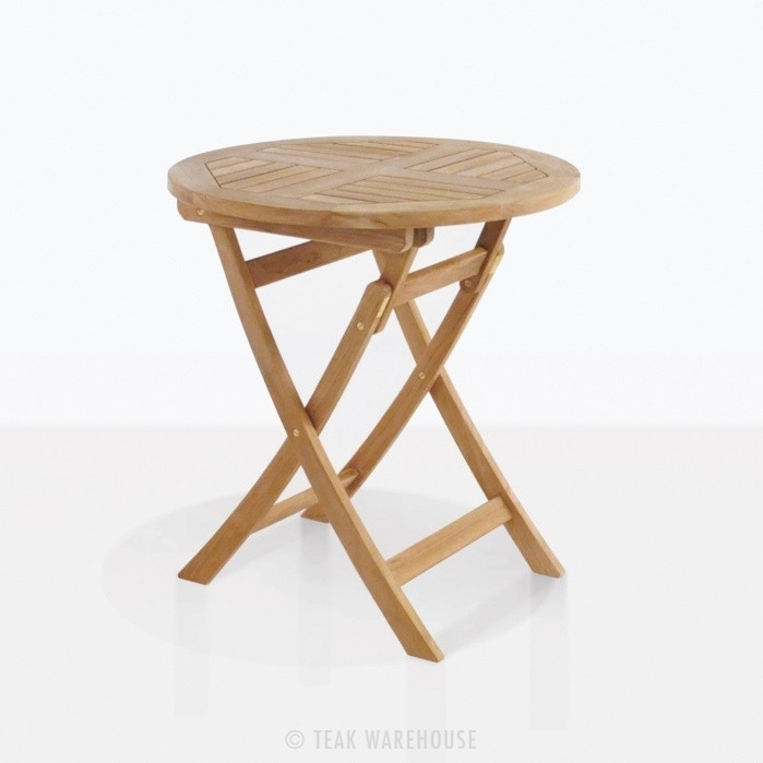 Round Teak Folding Tables | Dining Tables | Teak Warehouse Within Folding Dining Tables (Image 19 of 25)