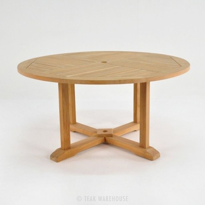 Round Teak Pedestal Dining Tables 0 | Outdoor Furniture | Pinterest Intended For Round Teak Dining Tables (Image 19 of 25)