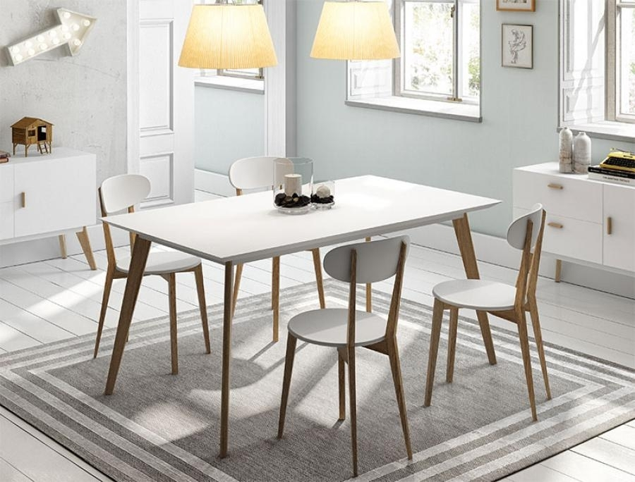 Round White Wood Dining Tables And Chairs – Home Decor Ideas In White Dining Tables (Image 18 of 25)
