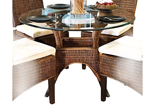Round Wicker Dining Table – House Plans And More House Design For Wicker And Glass Dining Tables (Image 14 of 25)