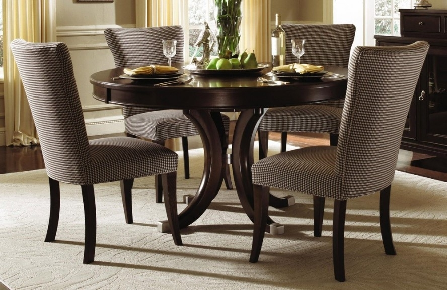 Round Wood Dining Table Set – Thetastingroomnyc Intended For Big Dining Tables For Sale (Image 23 of 25)