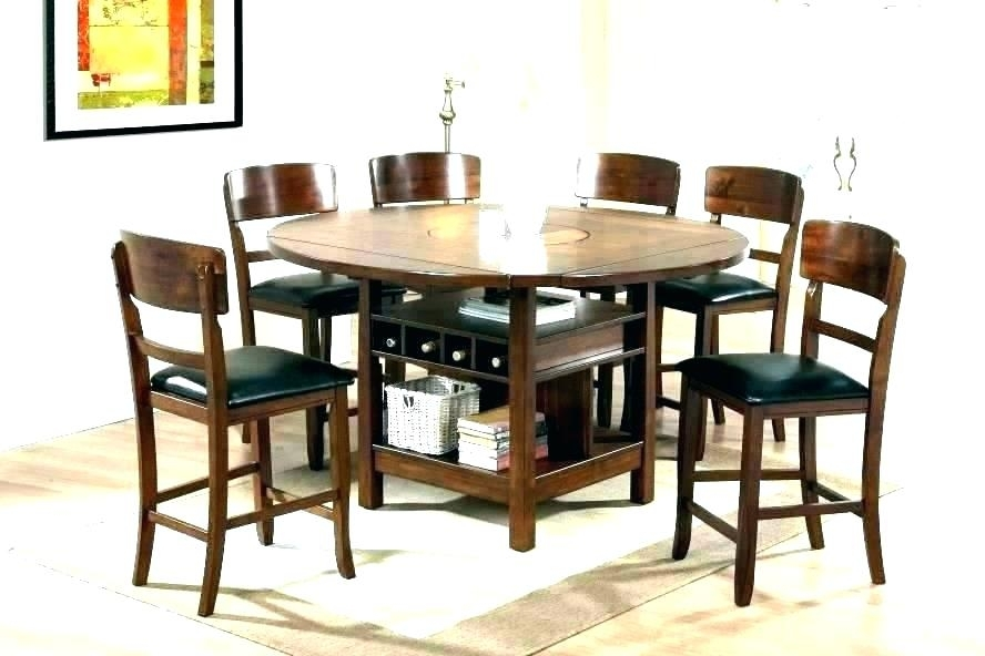 Round Wood Table With Leaf Kitchen Dining Tables Wooden And Chair Intended For Kitchen Dining Sets (Image 23 of 25)