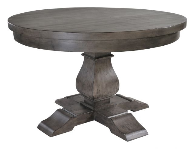 Rowico Monarch Solid Wood 130Cm Round Dining Table And 4 Solid Seat Intended For Circular Dining Tables For  (Image 19 of 25)