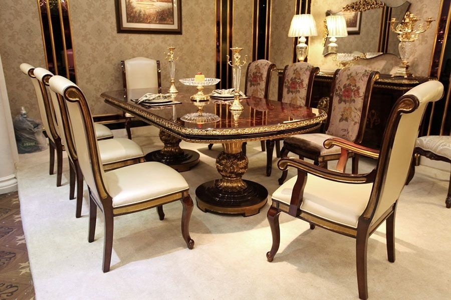 Royal Antique Italian Style Dining Room Furniture Made From Beech in Royal Dining Tables
