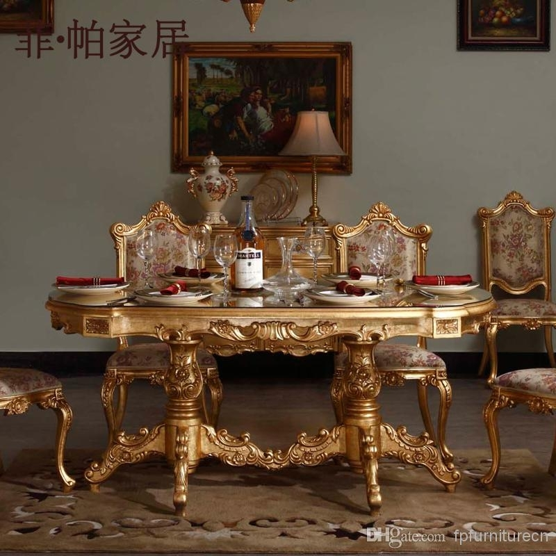 Royal Classic Furniture – Handwork Gilding Golden Foil Royalty Within Royal Dining Tables (Image 17 of 25)