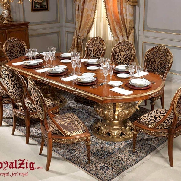 Royal Dining Table Cream Colour with Royal Dining Tables