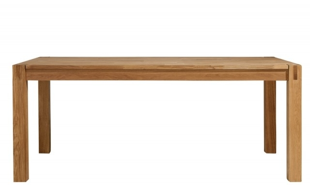 Royal Oak – 180Cm Modern Oak Dining Table – Fishpools For 180Cm Dining Tables (Image 19 of 25)