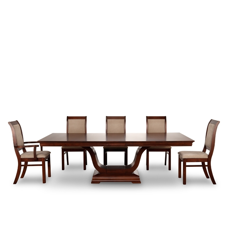Royal Pedestal Dining Table | Solid Wood Table | Woodcraft Intended For Pedestal Dining Tables And Chairs (View 12 of 25)