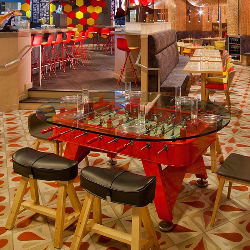 Rs Fdto Red, Rs Barcelona Dining Foosball Table Intended For Barcelona Dining Tables (Image 23 of 25)