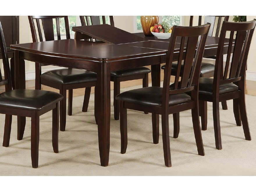 Rubber Wood Dining Set In Dark Brown – Shop For Affordable Home Intended For Dark Brown Wood Dining Tables (Image 24 of 25)
