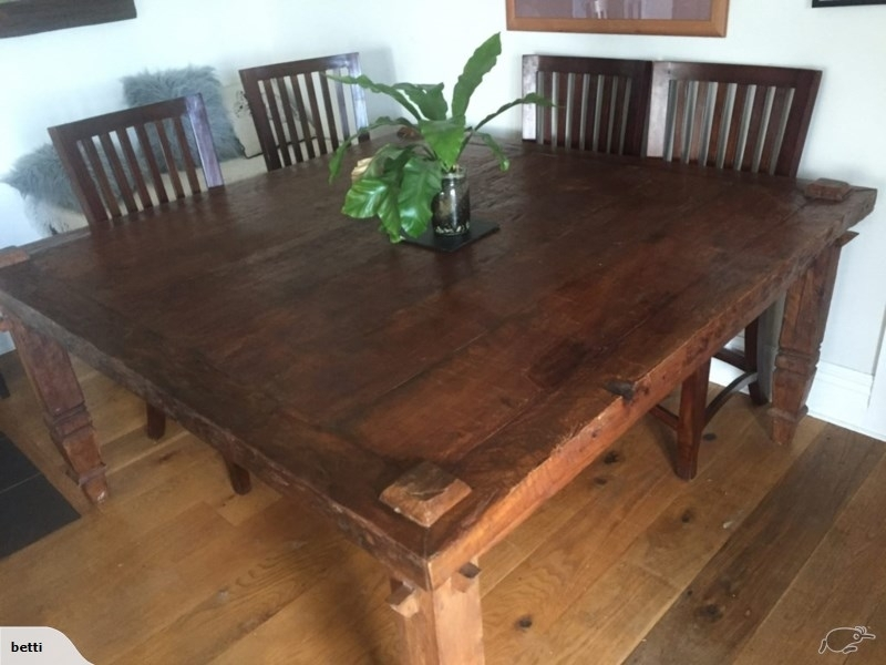 Rustic 8 Seater Bali Dining Table And 4 Chairs | Trade Me Within Bali Dining Tables (Image 22 of 25)