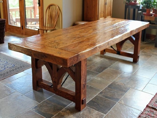 Rustic Dining Table: An Effective And Functional Table | Iomnn Within Rustic Dining Tables (Image 18 of 25)