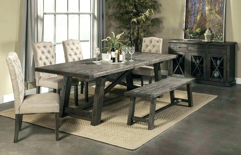 Rustic Dining Table And Chairs Black Rustic Dining Table Black Regarding Rustic Dining Tables (Image 13 of 25)
