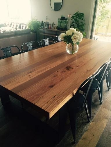 Rustic Dining Table Australia – Lumber Furniture Regarding Rustic Dining Tables (View 9 of 25)