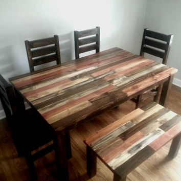 Rustic Dining Table / Dining Room Table / From Alexfurniture1 On Pertaining To Rustic Dining Tables (Image 11 of 25)